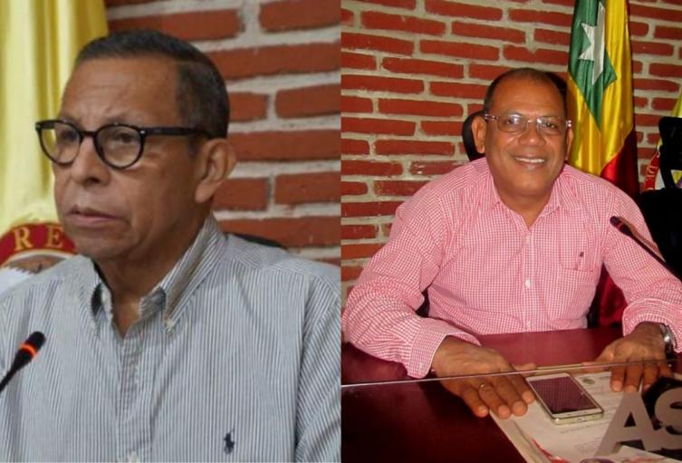 Concejal César Pión y ex concejal Américo Mendoza