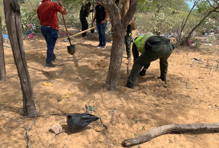 La droga fue hallada en zona rural del municipio de Uribia