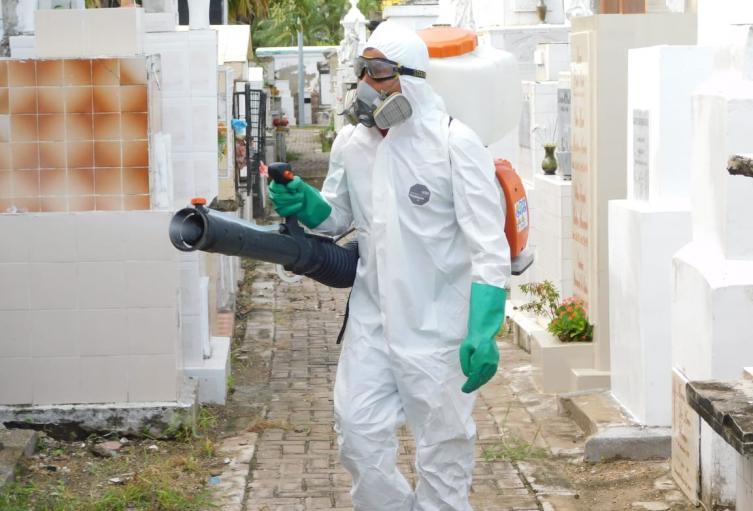 Fumigación de cementerios distritales de Cartagena