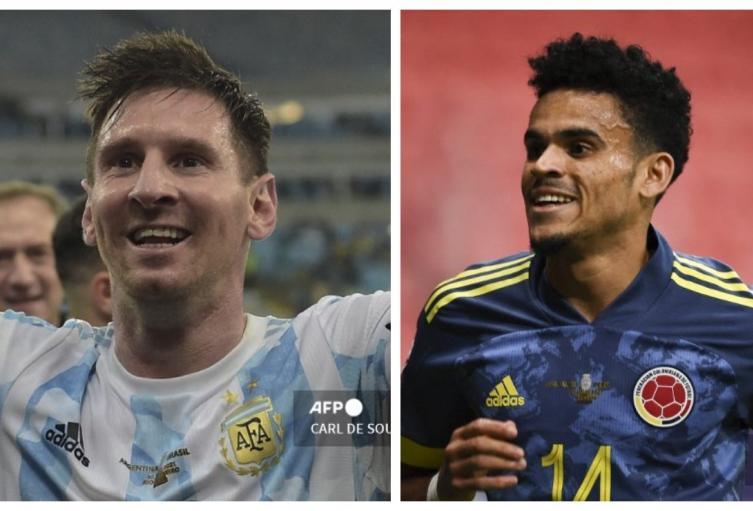 Lionel Messi y Luis Díaz