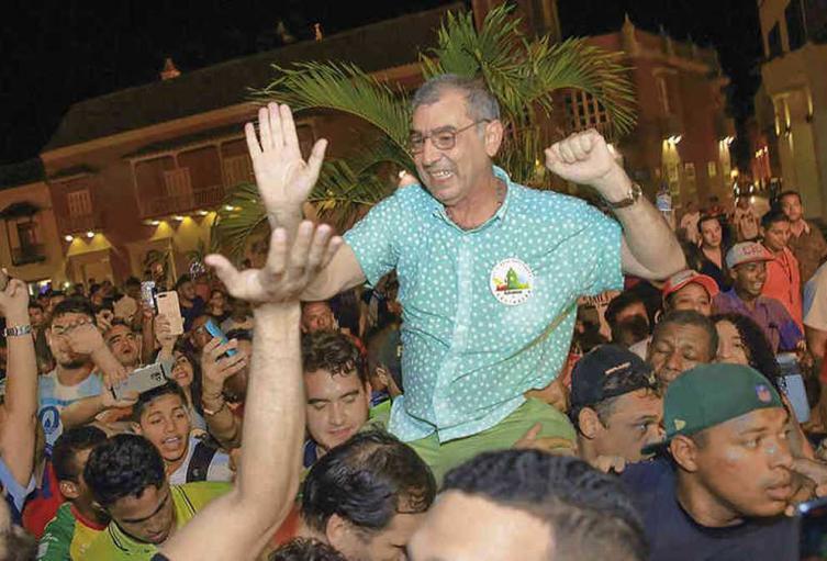 Elección de William Dau como alcalde de Cartagena
