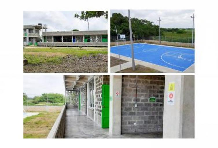 Más de 160 estudiantes se benefician con la nueva institución educativa del Fondo Adaptación en Majagual, Sucre