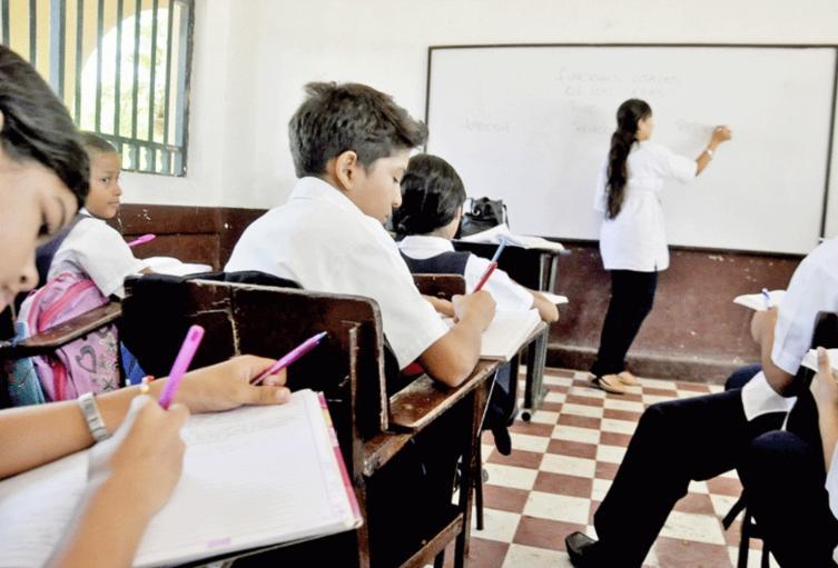 Estudiantes en aulas de clases