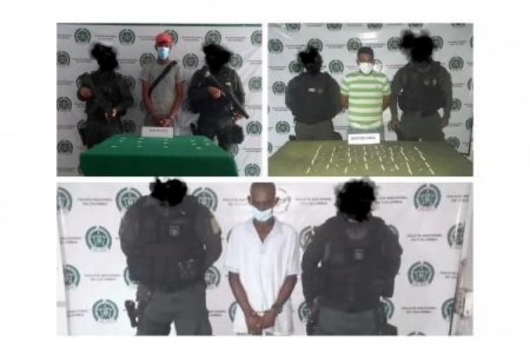 Por el delito de fabricación, tráfico o porte de estupefacientes, capturadas tres personas en Sincelejo y San Onofre