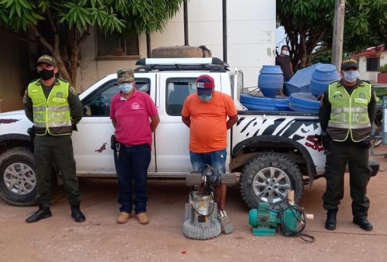 Nelson Enrique Díaz Rodríguez, de 47 años de edad y Leonardo Enrique Iriarte Escamilla, de 58 fueron los capturados