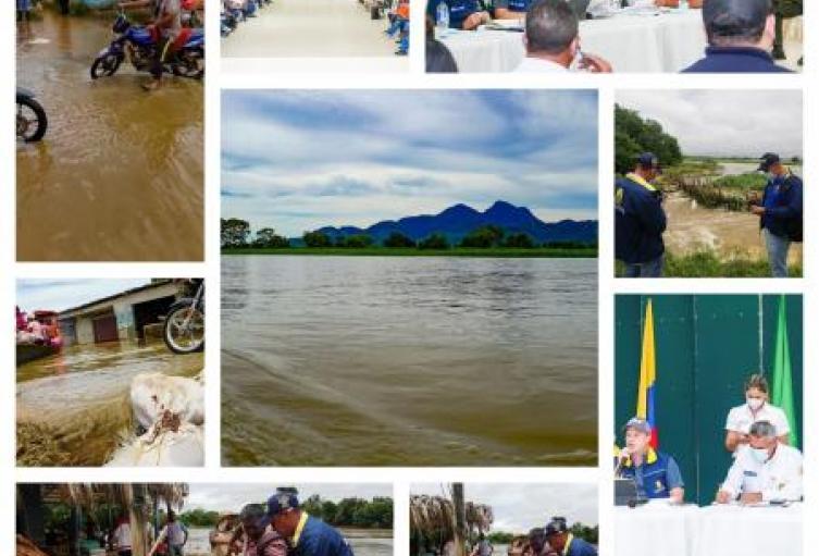 En San Marcos(Sucre) se cumplió ayer un  consejo ampliado de gestión del riesgo