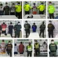 Las capturados se llevaron a cabo en varios municipios.