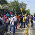 Jornada de protestas en Barranquilla.