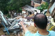 Sector Divino Niño afectado con las lluvias en Bucaramanga.