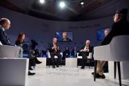 El presidente Iván Duque en Davos (Suiza)