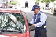 Agente de tránsito de Ibagué.