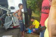 Diez heridos tras accidente en Suan.