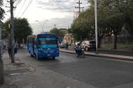 Protesta por incremento del pasaje de buses