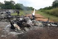 La avioneta fue derribada por la Fuerza Aérea Colombiana en Pivijay.
