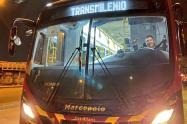Bus de Transmilenio a gas