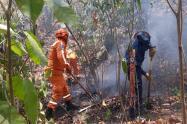 Autoridades trabajan para sofocar las llamas que se intensifican con el pasar de los días