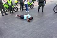 Se enfrentó a policías con revólver calibre 38