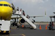 El vuelo humanitario fue coordinado entre la Embajada de los EE.UU y la Cancillería de Colombia.