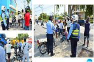En el barrio San Fernando sector centro comercial se llevó a cabo esta campaña