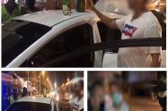 Los sorprendió la Policía en medio de un operativo en la Avenida Pedro de Heredia