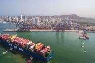 embarcación más grande que llega a Cartagena