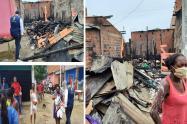 Un incendio les quemó la casa donde vivían dos familias