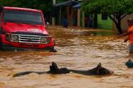 Las lluvias que se han presentado en la Serranía de San Lucas ha provocado el crecimiento de varias lagunas y el río.