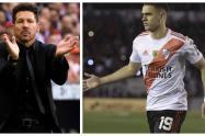Diego Simeone y Rafael Santos Borré