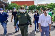 El alcalde de Barranquilla estuvo visitando a los habitantes de la localidad suroriente.
