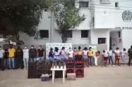 En el barrio palito de San Onofre fueron capturadas 21 personas por violaciòn a medidas sanitarias