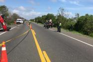 en el accidente afortunadamente lograron sacar a los conductores antes de que explotaran los vehiculos