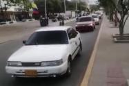 Caravana pro Uribe en Riohacha.