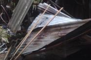 Varias viviendas quedaron sin techo.