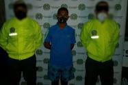 """Por el delito de homicidio la Policía Nacional capturó  en el municipio de Sampues a Eberth Perez Fuentes, alias """"El way""""."""