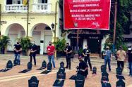 Acto simbólico en el Centro Histórico de Cartagena