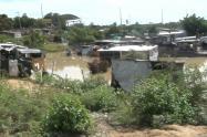 Asentamiento inundado en Maicao.