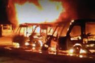 En el incendio 21 buses resultaron  incinerados