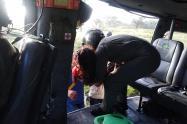 Las autoridades apoyaron el traslado de tres menores que resultaron heridos en medio de un vendaval en la comunidad en la Sierra Nevada de Santa Marta
