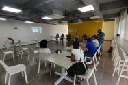 Reunión con manifestantes y autoridades en Cartagena