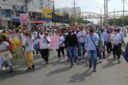 Alcalde de Cartagena acompañó marcha contra abusos de la policía