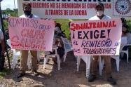 Esta bloqueada la vía férrea que transporta carbón hacia Puertos del Magdalena