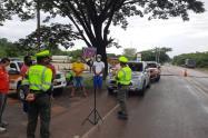 Controles policiales en las vías.