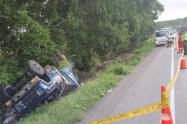 Las cuatro personas que perecieron en el accidente, habrían pedido el chance para llegar a Barranquilla