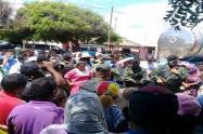 Enfrentamiento entre indígenas y la GNB