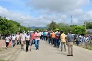 Durante las elecciones en Repelón se registraron aglomeraciones.