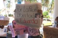 Plantón por liberación de docentes.