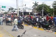 protesta de motociclistas