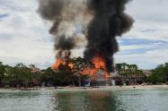 Capturan a una menor y tres adultos presuntamente relacionados en el incendio de Playa Blanca, Isla de Barú