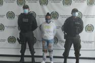 Mujer capturada por extorsión en Barranquilla.