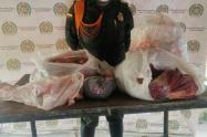 Policía Nacional en Sucre incauta 655 kilogramos de carne en el corregimiento de Chocho, Sincelejo